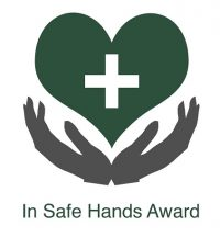 IN SAFE HANDS LOGO FOR NURSERY USE