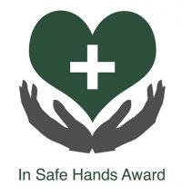IN SAFE HANDS LOGO FOR NURSERY USE